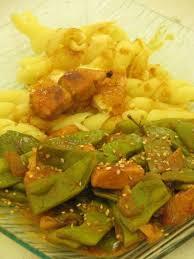 cuisiner haricots coco poulet au lait de coco curry et haricots coco plats recette ptitchef