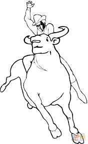 bull rodeo coloring page free printable coloring pages