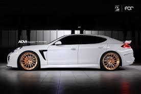 rose gold car porsche panamera adv15 m v2 sl concave wheels brushed rose