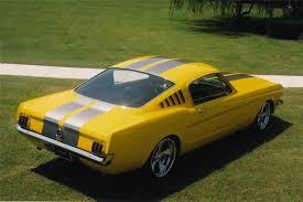 1965 yellow mustang 1965 ford mustang custom fastback 20969