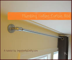 Metal Pipe Curtain Rod Tutorial Industrial Plumbing Pipe Curtain Rods