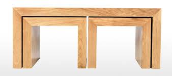 cube oak long john coffee table quercus living