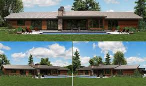contemporary homes plans plan w69510am stunning contemporary ranch home plan e