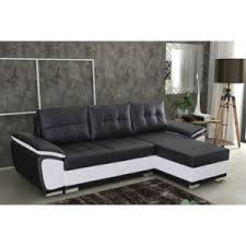 canapé d angle blanc et noir import diffusion canapé d angle convertible simili blanc et noir