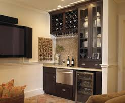 furniture tile granite flooring with wet bar cabinets and
