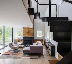 large native wood house design combined with stone siding wall minimalist nice design native wood house design with modern furniture on the wooden floor with modern ideas