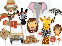 safari baby shower photo booth props baby shower safari