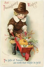 vintage thanksgiving postcards adorable vintage pilgrim boy image the graphics fairy
