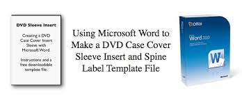 printable cd cover template using microsoft word to make a dvd cover sleeve insert and