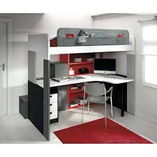 lit surélevé avec bureau lit avec bureau lit mezzanine pong bureau lit mezzanine avec bureau