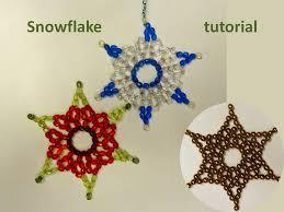 snowflake tutorial beaded snowflakes ornamen