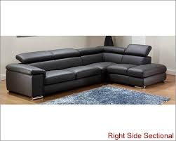 Grey Modern Sofa by Leather Sectional Sofa Set In Dark Grey Finish 33ls131