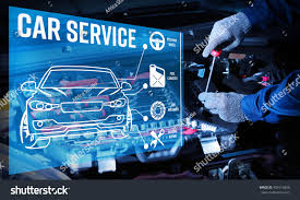 car engine service interface modern car diagnostic program on stock photo 499116850