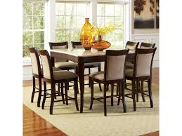 9 Pc Dining Room Set by Steve Silver Marseille 9 Piece Marble Top Pub Table And