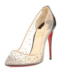 christian louboutin follies crystal embellished pumps in black lyst