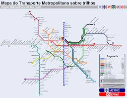 Marta Train Map Sao Paulo Brazil Subway Map Subway U0026 Train Maps Pinterest