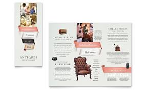 antique mall brochure template word u0026 publisher