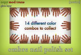 second life marketplace croire ombre nail polish set 14 color