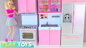 barbie kitchen furniture barbie doll kitchen set up 4 tea party w disney princess rapunzel