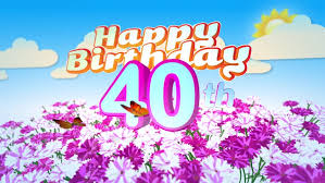 happy 80th birthday card with a field of flowers while two little