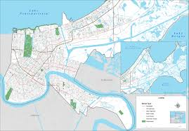 Map Of New Orleans Area by New Orleans Street Map