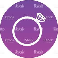 design style diamond wedding ring vector icon modern minimal flat design style