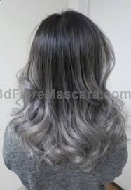 black grey hair silver ends and dark grey roots ombre hair best beauty products
