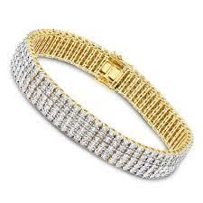 diamond bracelet sterling silver images Mens bracelets sterling silver 5 row diamond bracelet 1 5ct gold jpg