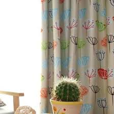 Room Darkening Curtains For Nursery Nursery Room Curtains Beige Botanical Print Cotton Nursery Or