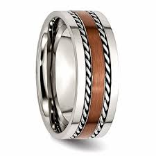 chocolate wedding rings stainless steel and chocolate plated s wide band ring