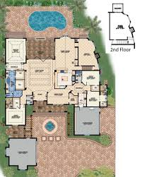mediterranean style house plan 4 beds 4 50 baths 4730 sq ft plan