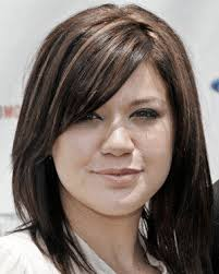medium length hair cuts overweight side bangs with medium length hairstyle for double chin beauty