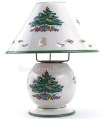 spode christmas tree pierced lamp tea light candle votive htf pair