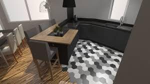 cuisine en bois gris cuisine mat et bois cuisine mur de briquettes