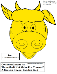 church house collection blog paper plate golden calf craft for