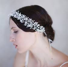 pearl headpiece tiara wedding headbands pearl bridal hair accessories handmade
