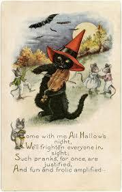 Vintage Halloween Poems Cute Black Cat Digital Freebie Halloween Pinterest Black