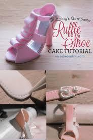 high heel cake topper gumpaste ruffled high heel cake topper tutorial cakecentral