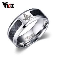 aliexpress buy vnox 2016 new wedding rings for women vnox masonic men ring stainless steel carbon fiber 8mm