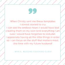 diy wedding planning template kit u2014 christy decatur event and