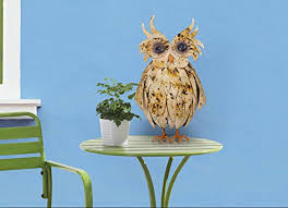 Owl Table L Sunjoy Friendly Owl Garden Statue Made Of Painted