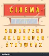 retro style volumetric signboard letters light stock vector