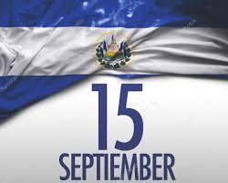 Salvadoran Flag September 15 El Salvador Independence Day U2014 Stock Photo