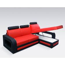 canapé convertible orange canapé lit avec angle droit ou gauche en pu ultra tendance