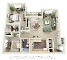 Brilliant  Bedroom Apartment In Home Interior Design Concept With - Apartment design concept