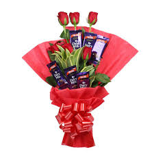bouquet of roses chocolate bouquet gift chocolate roses bouquet ferns n petals
