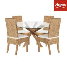 Garden Chairs Argos Home Of Style Abbotsley Dining Table With 4 Rattan Chairs From