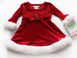 nwt girls baby holiday long sleeve dress xmas new christmas