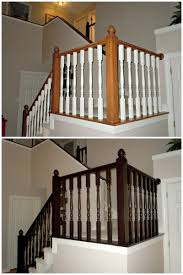 General Finishes Gel Stain Kitchen Cabinets by Furniture Makeover Wooden Stair Railing Using Espresso General