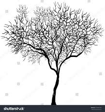 black and white background halloween dead tree black on white background stock vector 326897900